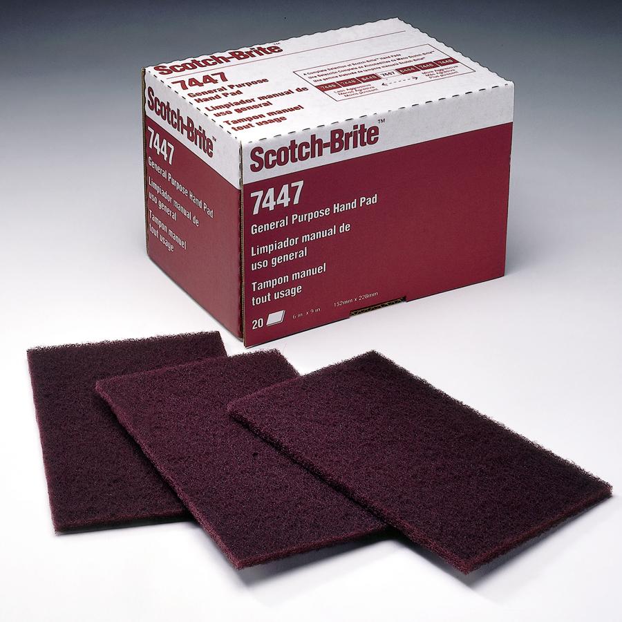 60//Case 3M Scotch-Brite 04229 6 X 9 General Purpose Hand Pad 7447B